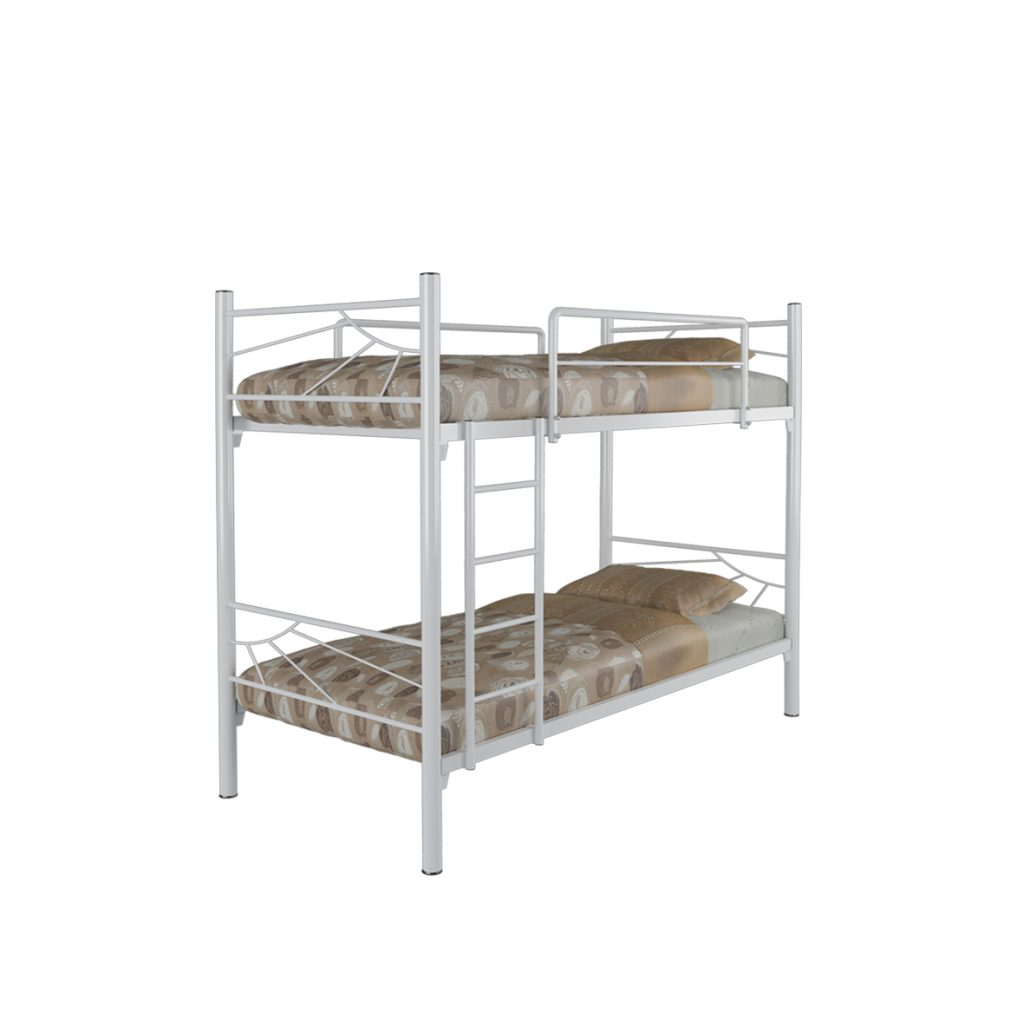 BUNKBED<br>TYPE : ANDEZ<br>SIZE : 97 X 210 X 180 CM<br>COLOUR : WHITE GLOSS