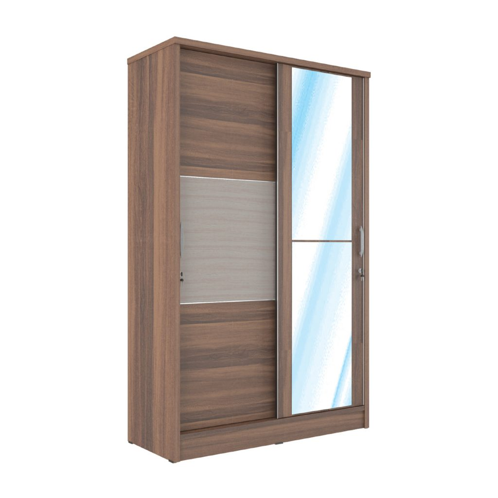 SLIDING WARDROBE<br>TYPE : AR - 5121<br>SIZE : 120 X 52 X 195 CM<br>COLOUR : FRENCH WL + TH TEAK