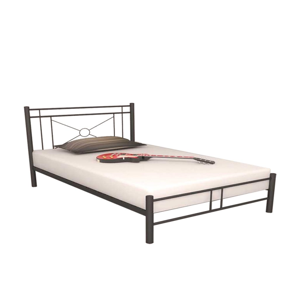 MEDIUM BED<br>TYPE : ASHLEY 120<br>SIZE : 127,5 X 210 X 110 CM<br>COLOUR : BLACK