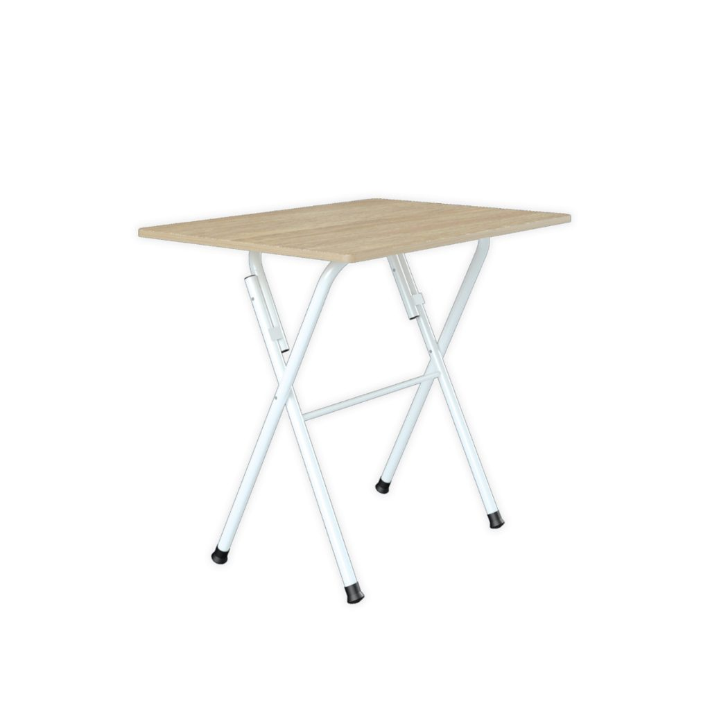 FOOD COURT TABLE<br>TYPE : ARENDAL 8060<br>SIZE : 80 X 60 X 75 CM<br>COLOUR : SONOMA + WHT GL