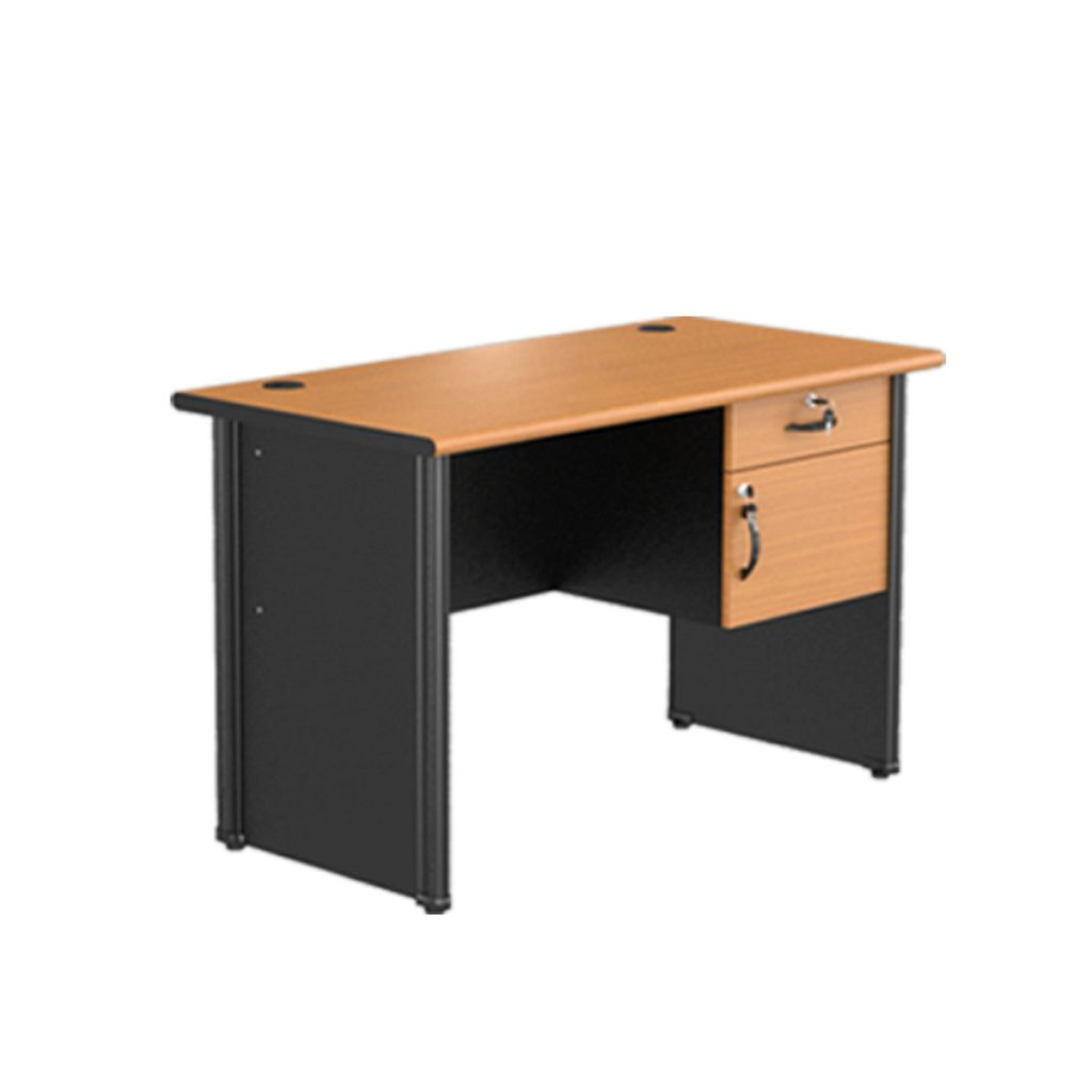 OFFICE TABLE 1/2 BIRO<br>TYPE : CST - 1061<br>SIZE : 120 X 60 X 75 CM<br>COLOUR : BEECH - BLACK