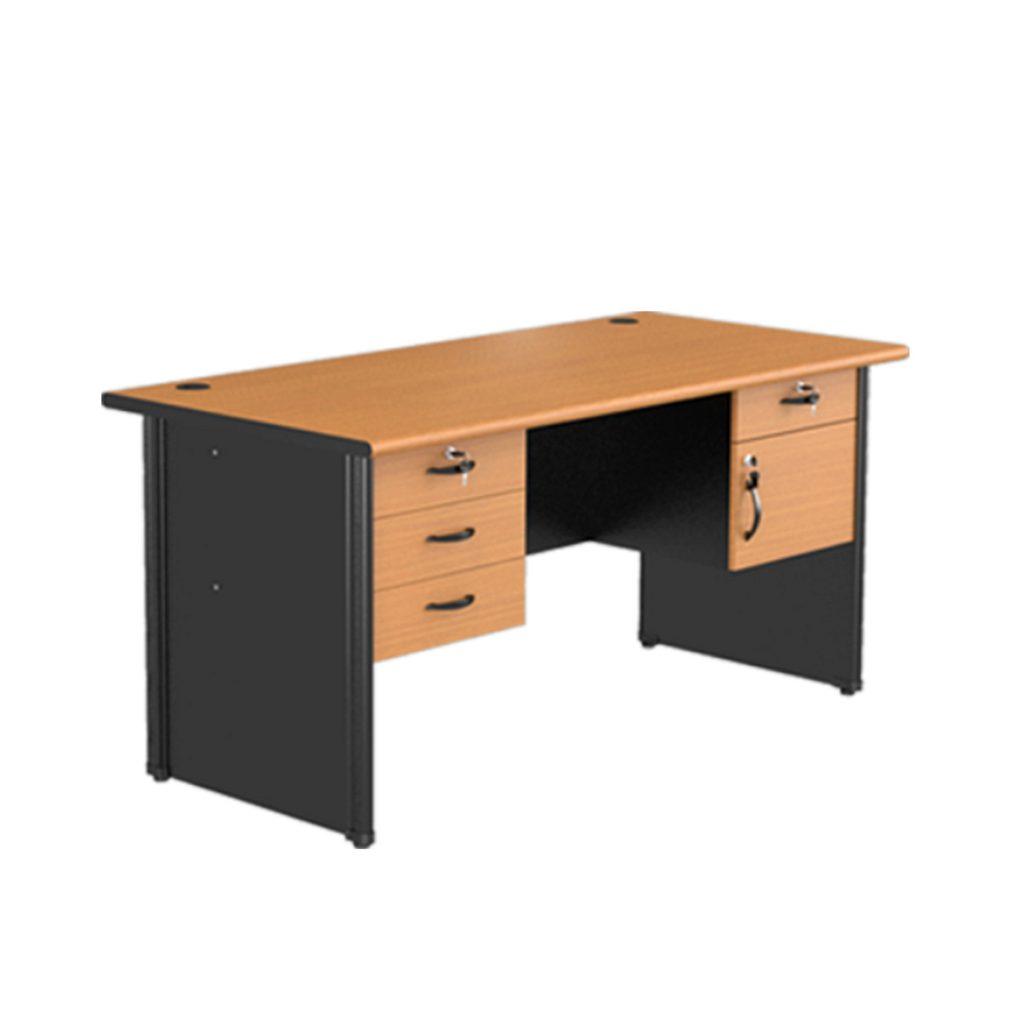 OFFICE TABLE 1 BIRO<br>TYPE : CST - 1080<br>SIZE : 160 X 75 X 75 CM<br>COLOUR : BEECH - BLACK