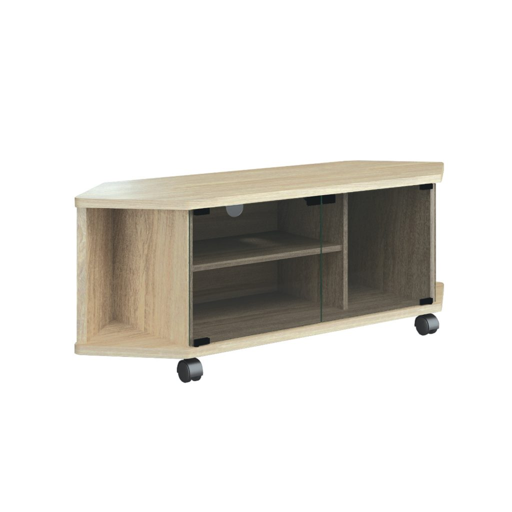 AUDIO MEDIA RACK<br>TYPE : CAROLLINA<br>SIZE : 120 X 40 X 44 CM<br>COLOUR : SONOMA L CREAM