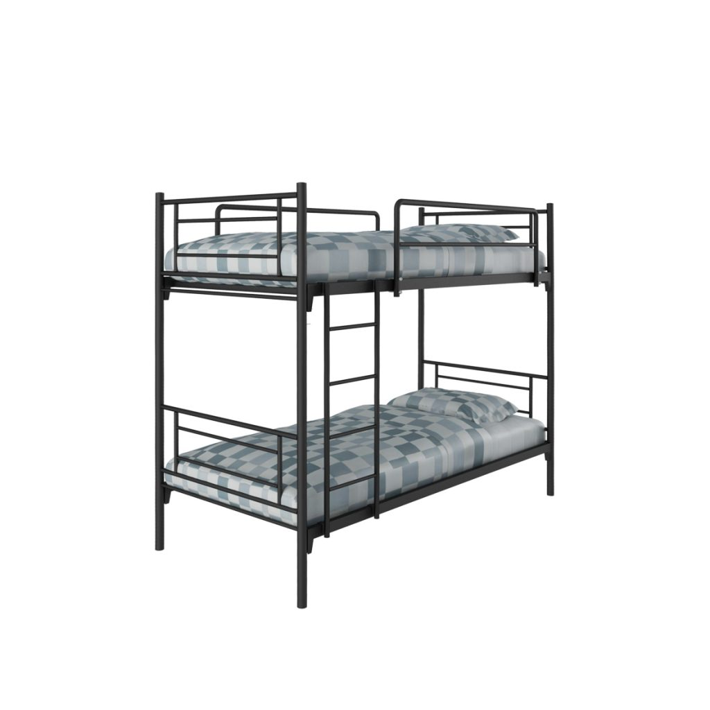 BUNKBED<br>TYPE : D-SQUARE<br>SIZE : 95 X 206 X 175 CM<br>COLOUR : BLACK