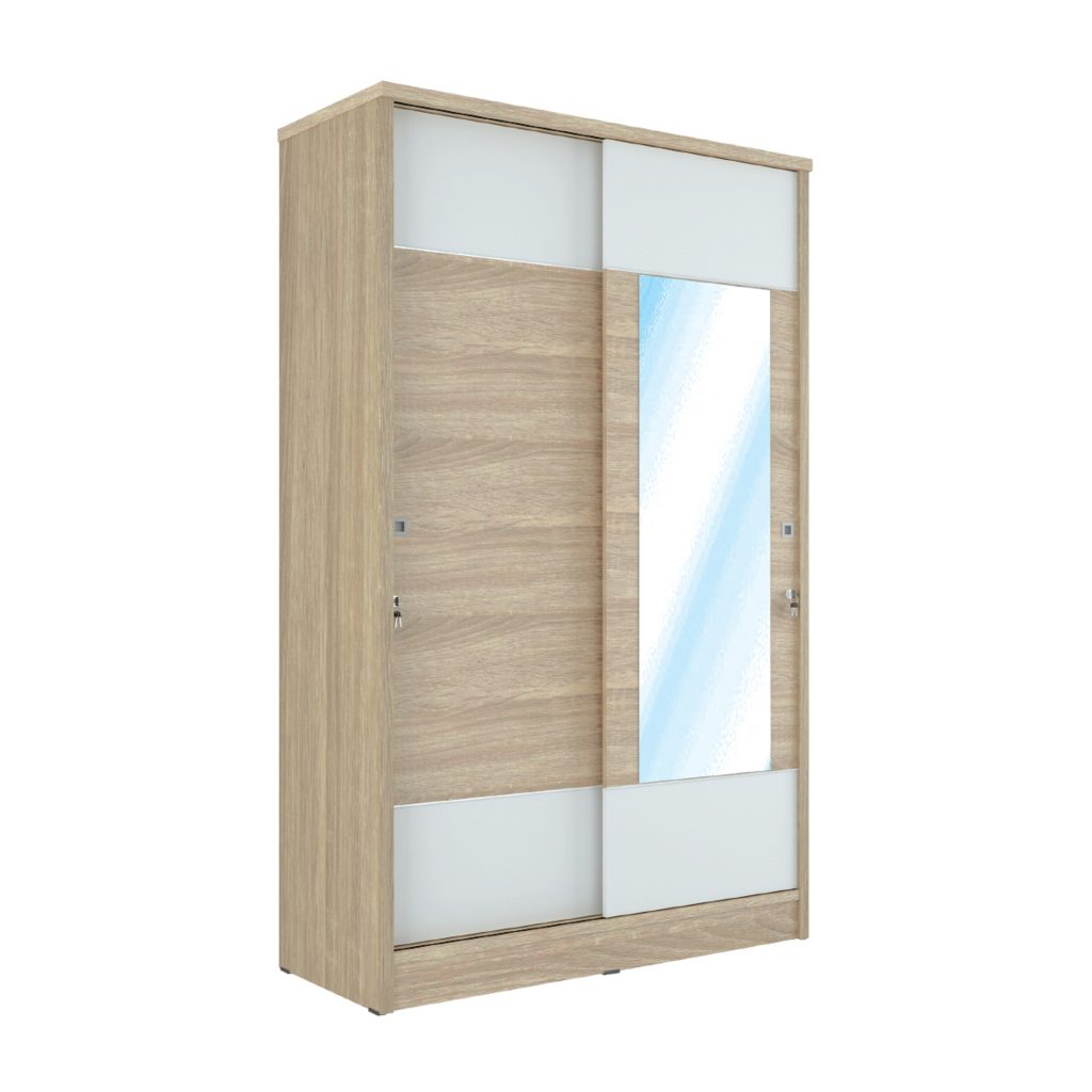 SLIDING WARDROBE<br>TYPE : DN - 5121<br>SIZE : 120 X 52 X 195 CM<br>COLOUR : SONOMA L CREAM