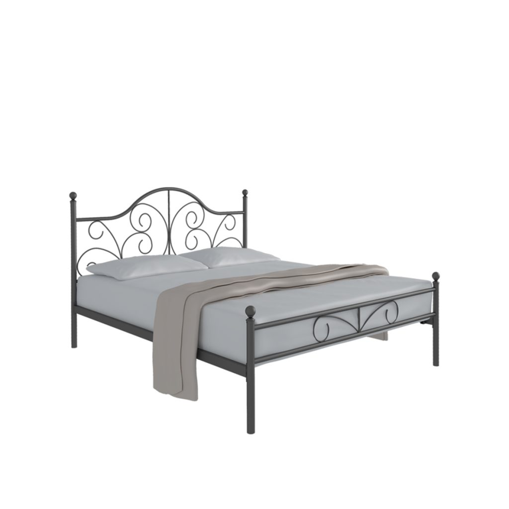 DOUBLE BED<br>TYPE : FLORENCE 160<br>SIZE : 166 X 207 X 116 CM<br>COLOUR : BLACK
