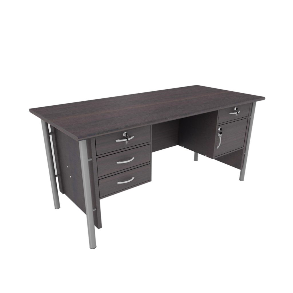 OFFICE TABLE 1 BIRO<br>TYPE : GST - 1080<br>SIZE : 160 X 75 X 75 CM<br>COLOUR : MAHOGANY