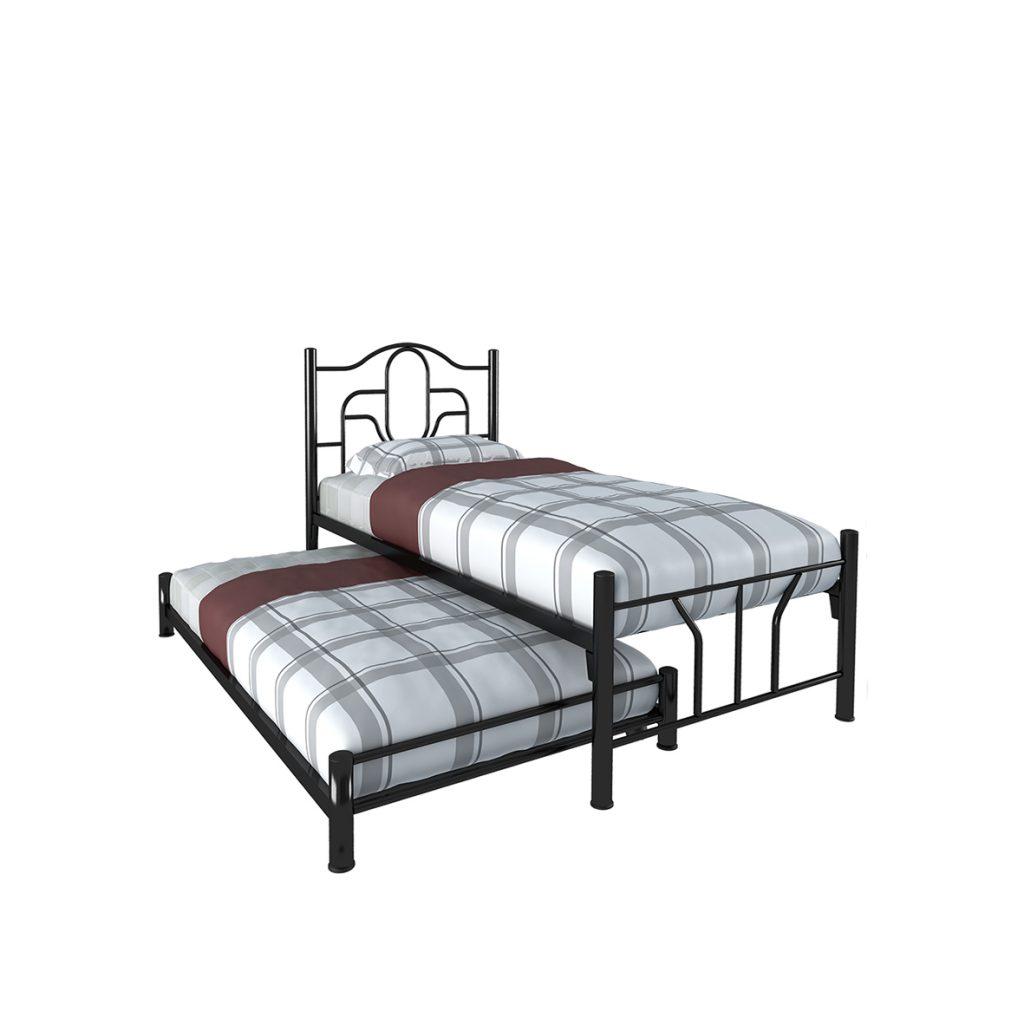 SINGLE BED<br>TYPE : JUPITER<br>SIZE : 97 X 210 X 103 CM<br>COLOUR : BLACK<br>SINGLE BED<br>TYPE : PLUTO<br>SIZE : 97 X 190 X 21 CM<br>COLOUR : BLACK