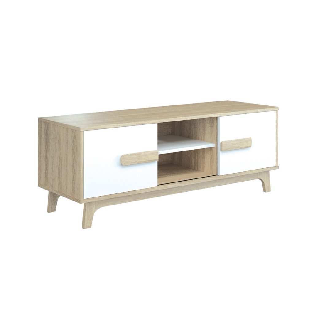 AUDIO MEDIA RACK<br>TYPE : KANSAS 120<br>SIZE : 120 X 39 X 42 CM<br>COLOUR : SONOMA L CREAM