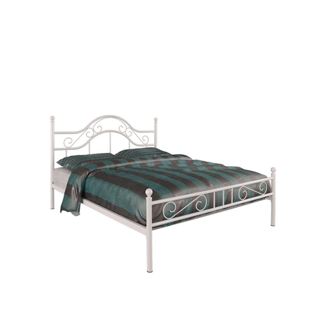 MEDIUM BED<br>TYPE : MONZA 120<br>SIZE : 126 X 207 X 116 CM<br>COLOUR : WHITE