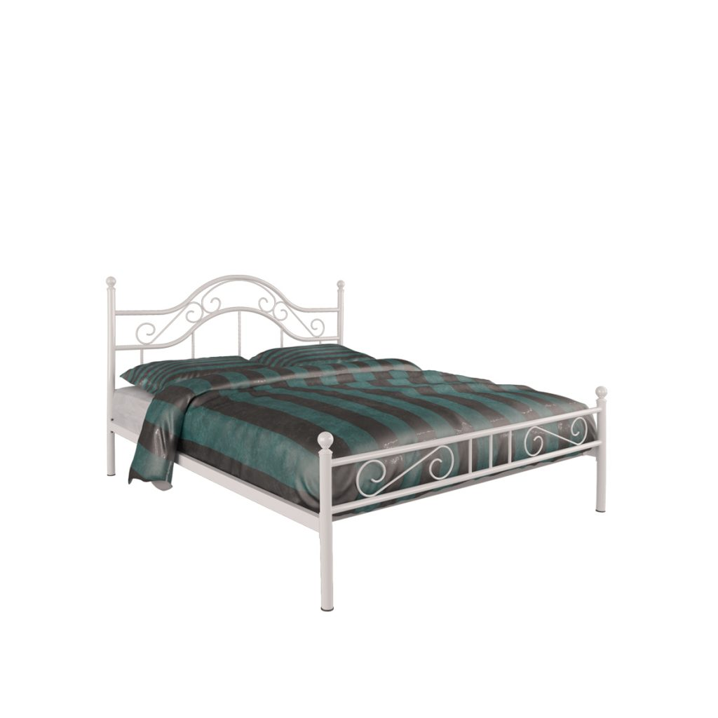 DOUBLE BED<br>TYPE : MONZA 160<br>SIZE : 166 X 207 X 116 CM<br>COLOUR : WHITE