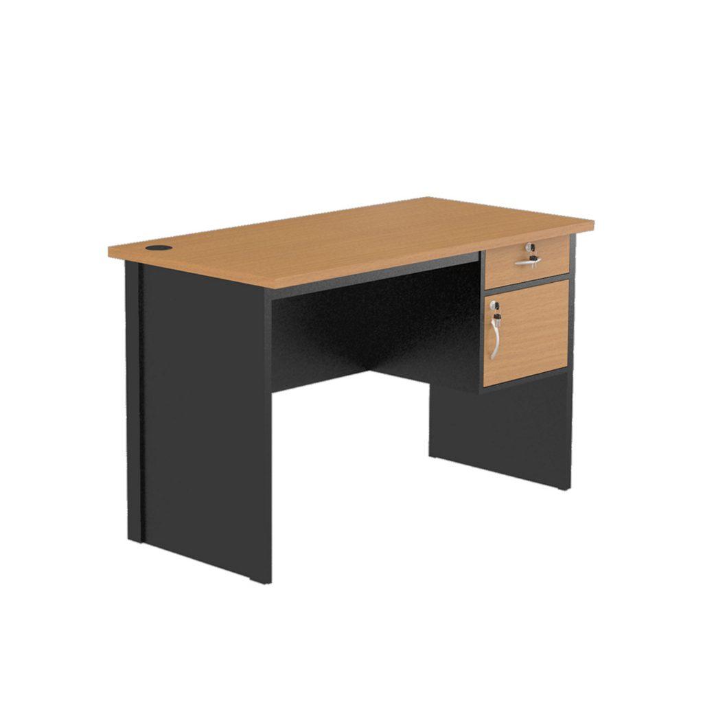 OFFICE TABLE 1/2 BIRO<br>TYPE : NST - 1061<br>SIZE : 120 X 60 X 75 CM<br>COLOUR : BEECH - BLACK