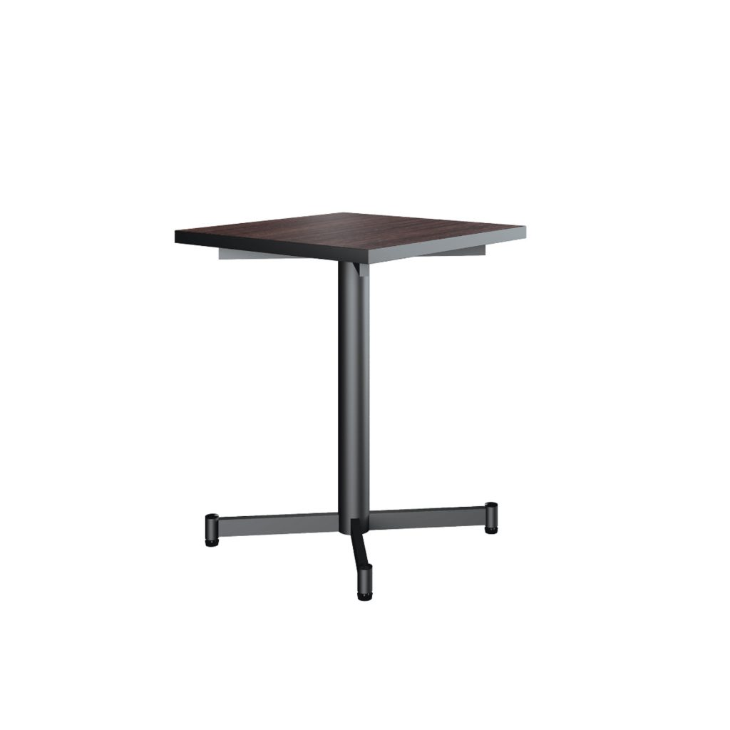 FOOD COURT TABLE<br>TYPE : NEW ALABAMA 6060<br>SIZE : 60 X 60 X 76 CM<br>COLOUR : WALNUT + BLACK