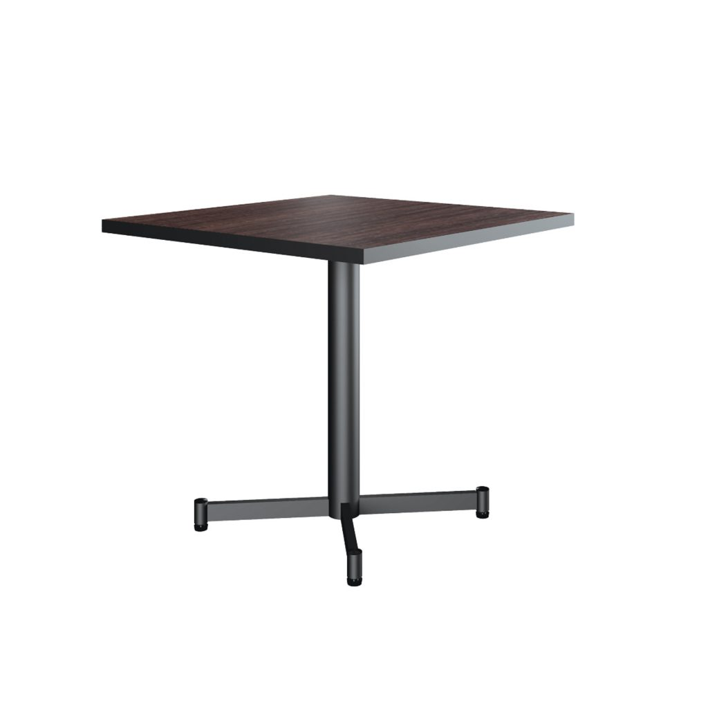 FOOD COURT TABLE<br>TYPE : NEW ALABAMA 8080<br>SIZE : 80 X 80 X 76 CM<br>COLOUR : WALNUT + BLACK