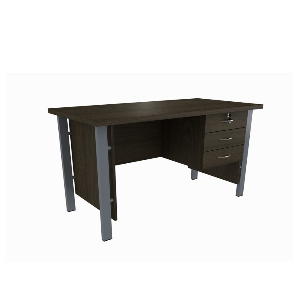 OFFICE TABLE 1/2 BIRO<br>TYPE : OST - 1060<br>SIZE : 120 X 60 X 75 CM<br>COLOUR : BROWN