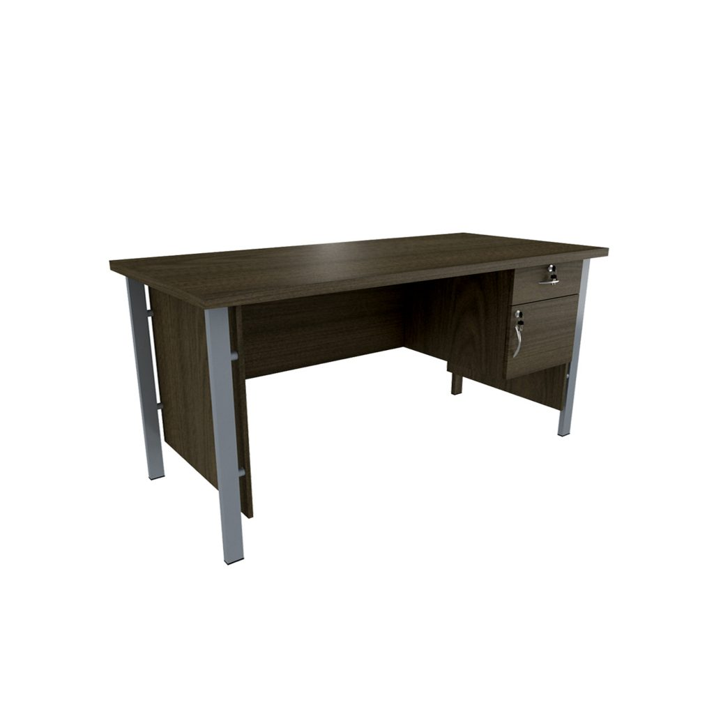 OFFICE TABLE 1/2 BIRO<br>TYPE : OST - 1061<br>SIZE : 120 X 60 X 75 CM<br>COLOUR : BROWN