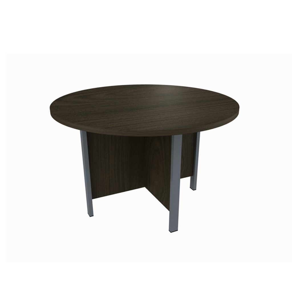 CONFERENCE TABLE<br>TYPE : OST - 1200<br>SIZE : ø 115 X 75 CM<br>COLOUR : BROWN