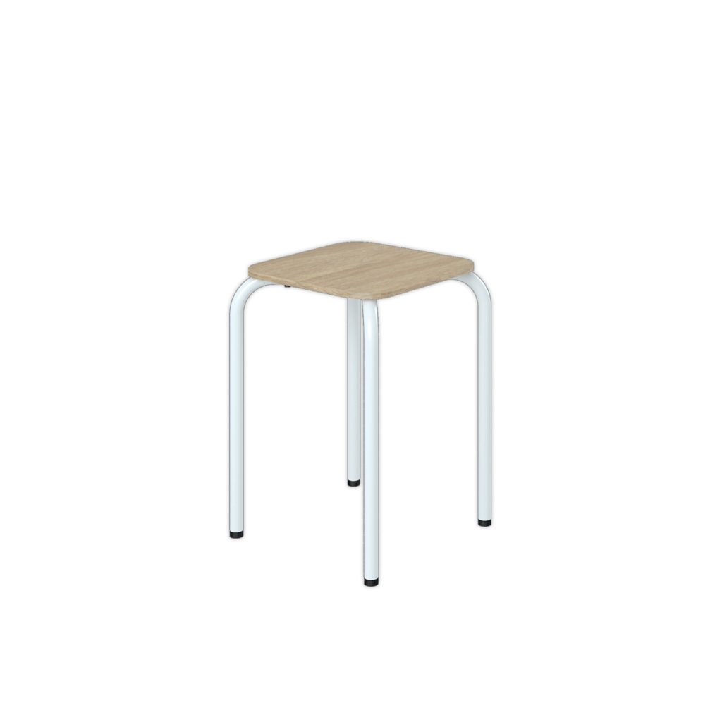 FOOD COURT CHAIR<br>TYPE : OSAKA<br>SIZE : 32 X 32 X 46,5 CM<br>COLOUR : SONOMA + WHT GL