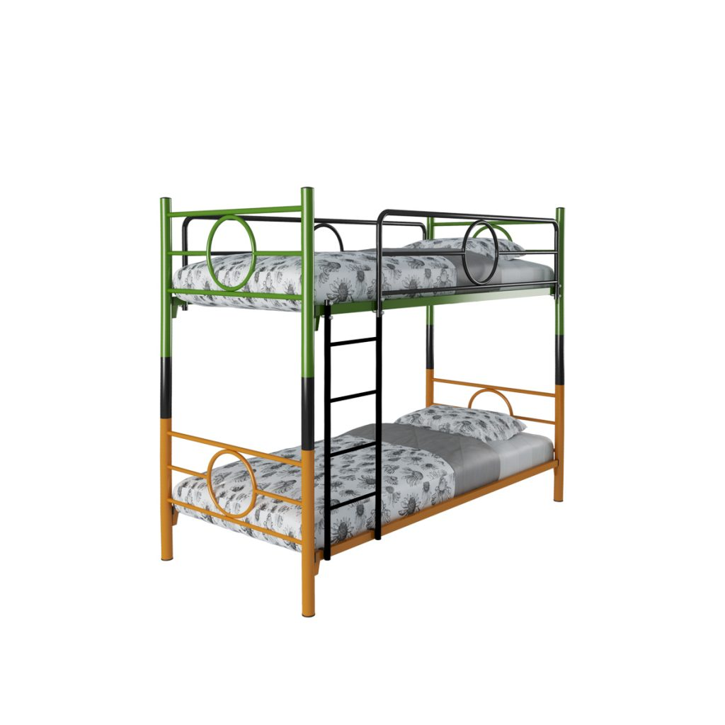 BUNKBED<br>TYPE : RINGO<br>SIZE : 97 X 210 X 175 CM<br>COLOUR : GREEN + VIOLET + ORANGE