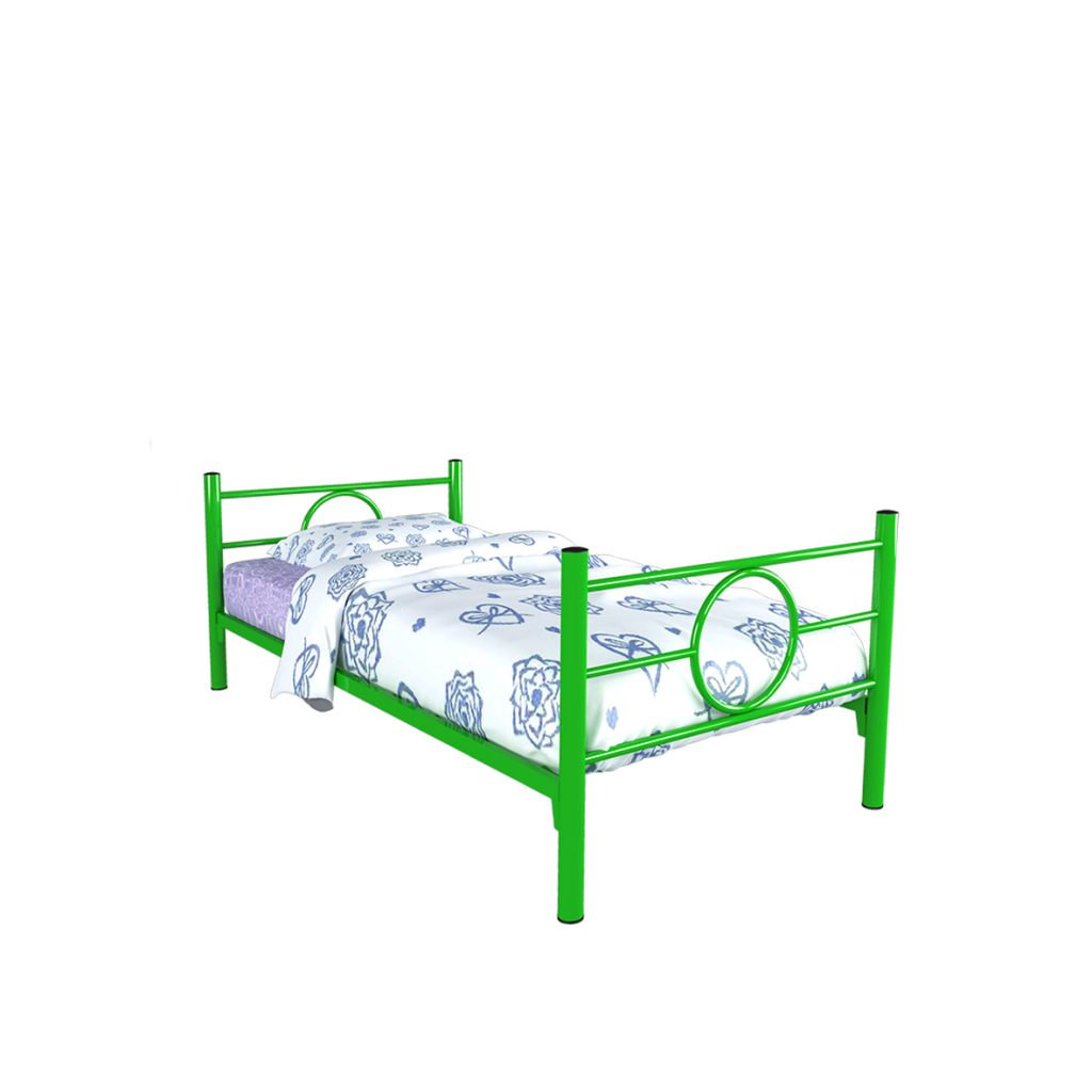 SINGLE BED<br>TYPE : RINGO<br>SIZE : 97 X 210 X 72 CM<br>COLOUR : GREEN