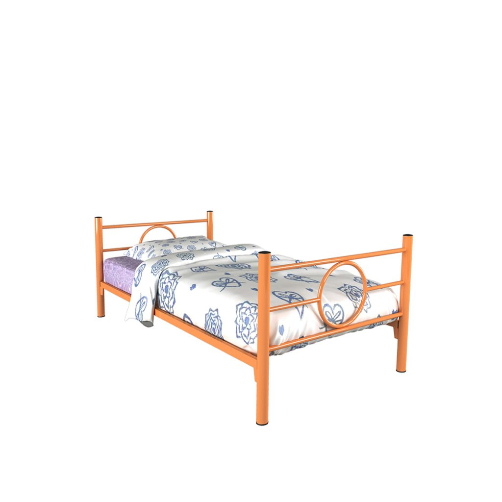 SINGLE BED<br>TYPE : RINGO<br>SIZE : 97 X 210 X 72 CM<br>COLOUR : ORANGE