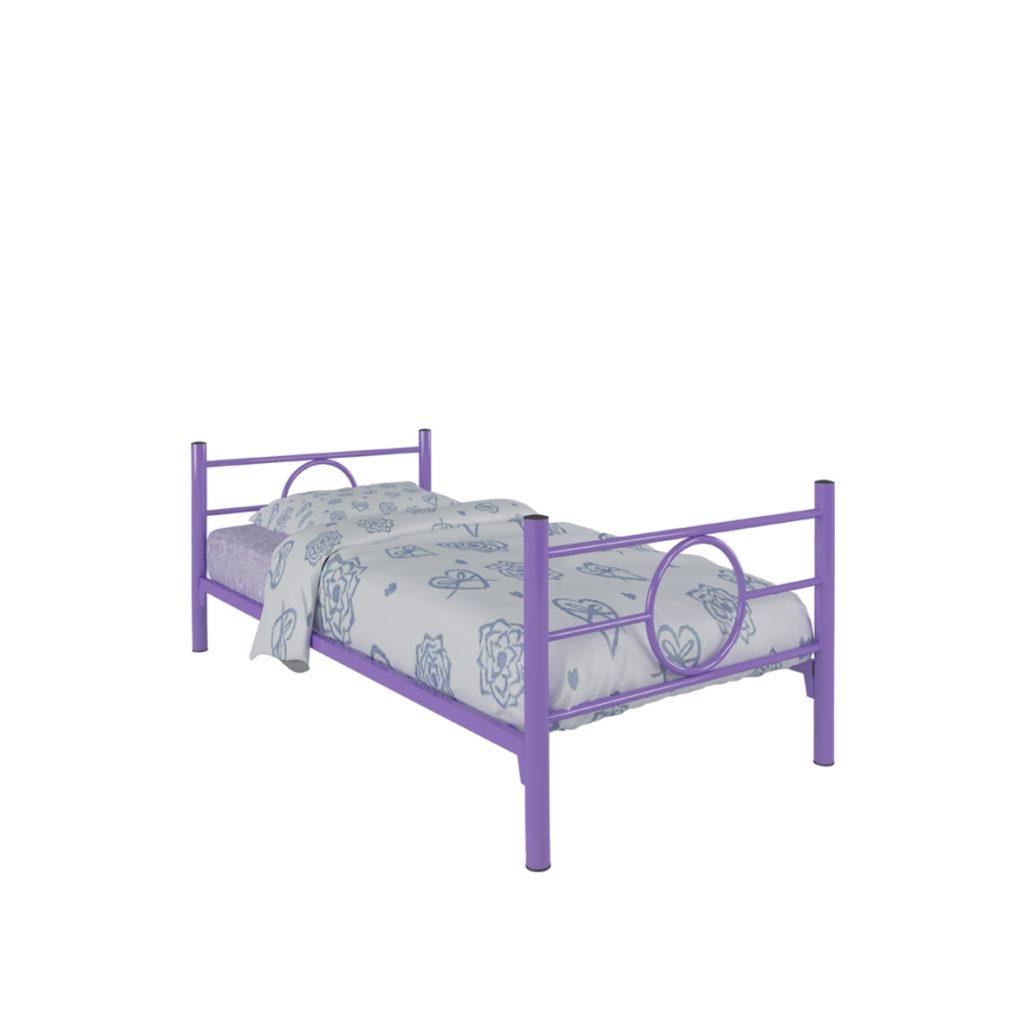 SINGLE BED<br>TYPE : RINGO<br>SIZE : 97 X 210 X 72 CM<br>COLOUR : VIOLET