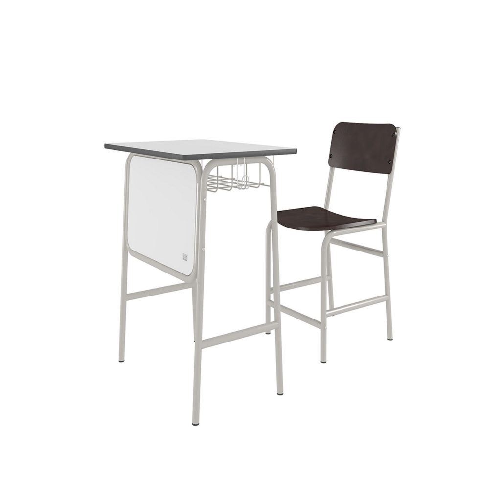 STUDENT DESK<br>TYPE : SK - 02<br>SIZE DESK : 64,5 X 44,5 X 70 CM<br>SIZE CHAIR : 39,5 X 41,2 X 72 CM<br>COLOUR : WHITE + BIEGE