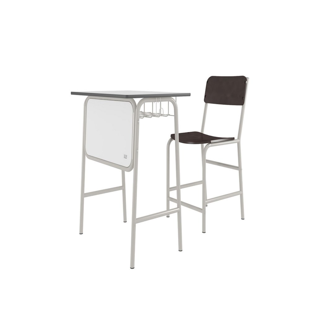 STUDENT DESK<br>TYPE : SK - 03<br>SIZE DESK : 64,5 X 44,5 X 76 CM<br>SIZE CHAIR : 39,5 X 45,2 X 80,5 CM<br>COLOUR : WHITE + BIEGE