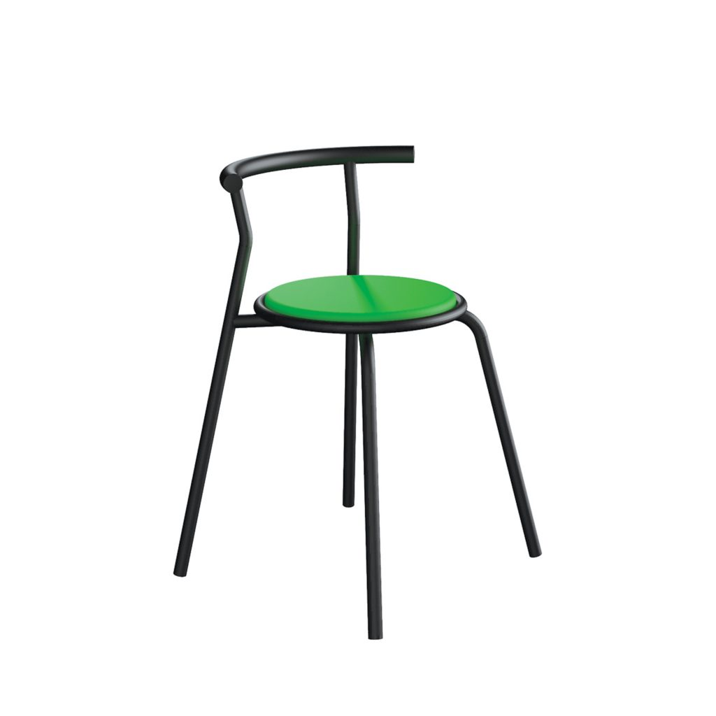 FOOD COURT CHAIR<br>TYPE : TOKYO<br>SIZE : 49 X 41 X 67,5 CM<br>COLOUR : BLACK + GREEN