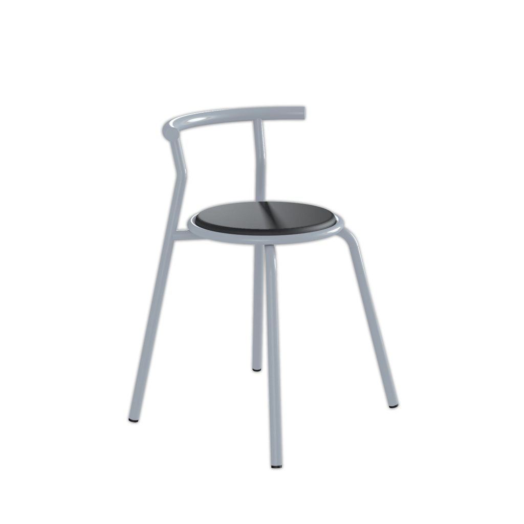 FOOD COURT CHAIR<br>TYPE : TOKYO<br>SIZE : 49 X 41 X 67,5 CM<br>COLOUR : SILVER + BLACK