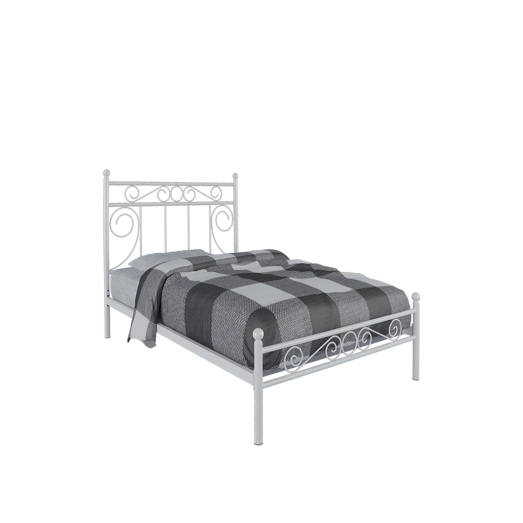SINGLE BED<br>TYPE : VICENZA 90<br>SIZE : 95,5 X 207 X 120 CM<br>COLOUR : WHITE