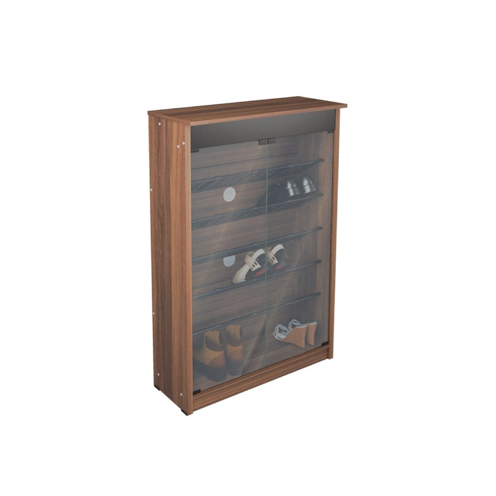 SHOES RACK<br>TYPE : RS - 1281<br>SIZE : 80 X 32 X 121 CM<br>COLOUR : FRENCH WALNUT